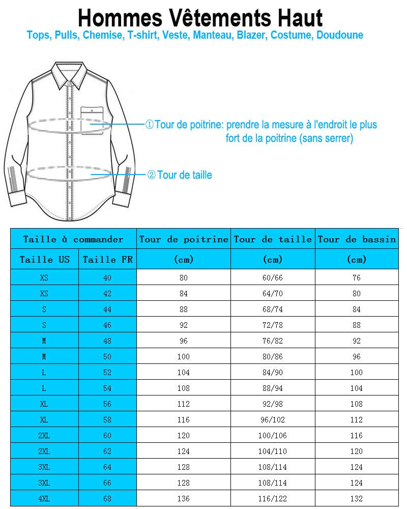 Vêtements Homme Taille