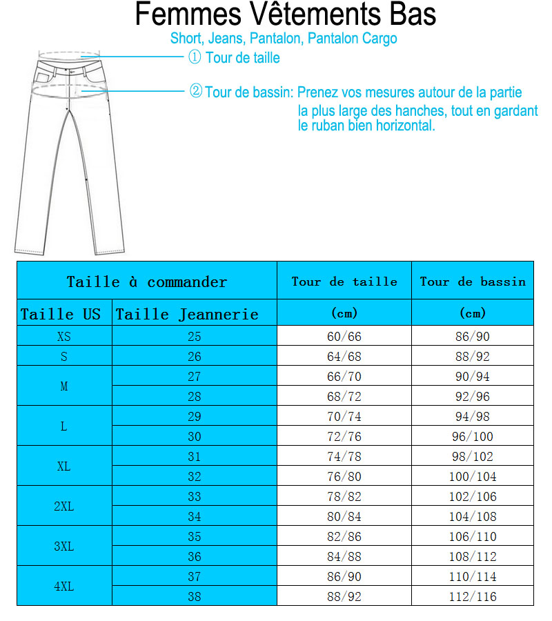 Pantalons Femme Taille