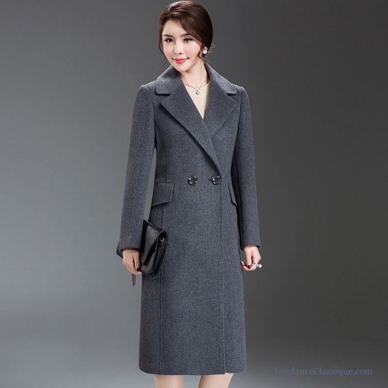 Manteau Bleu Marine Jaune, Manteau Femme Officier