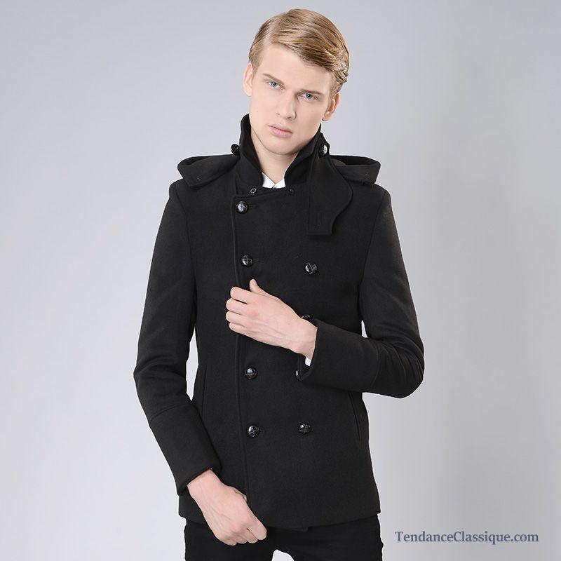 manteau chaude pour homme manteau long homme laine pas cher. Black Bedroom Furniture Sets. Home Design Ideas