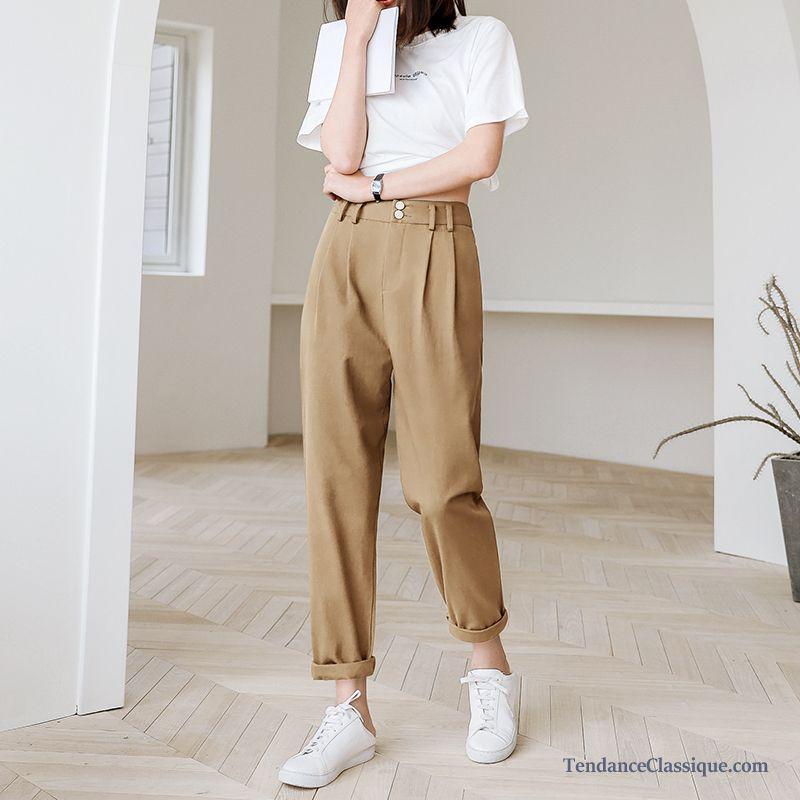Modèle Pantalon Femme, Pantalon Coupe Carotte Femme
