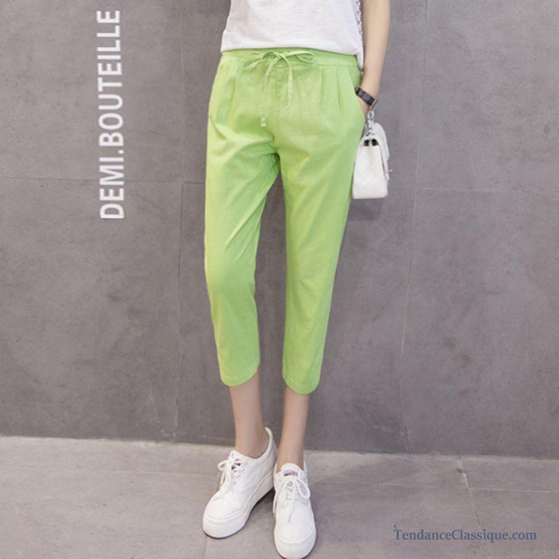 Pantalon Lin Femme SaumonTailleur Noir Coton D29IEH