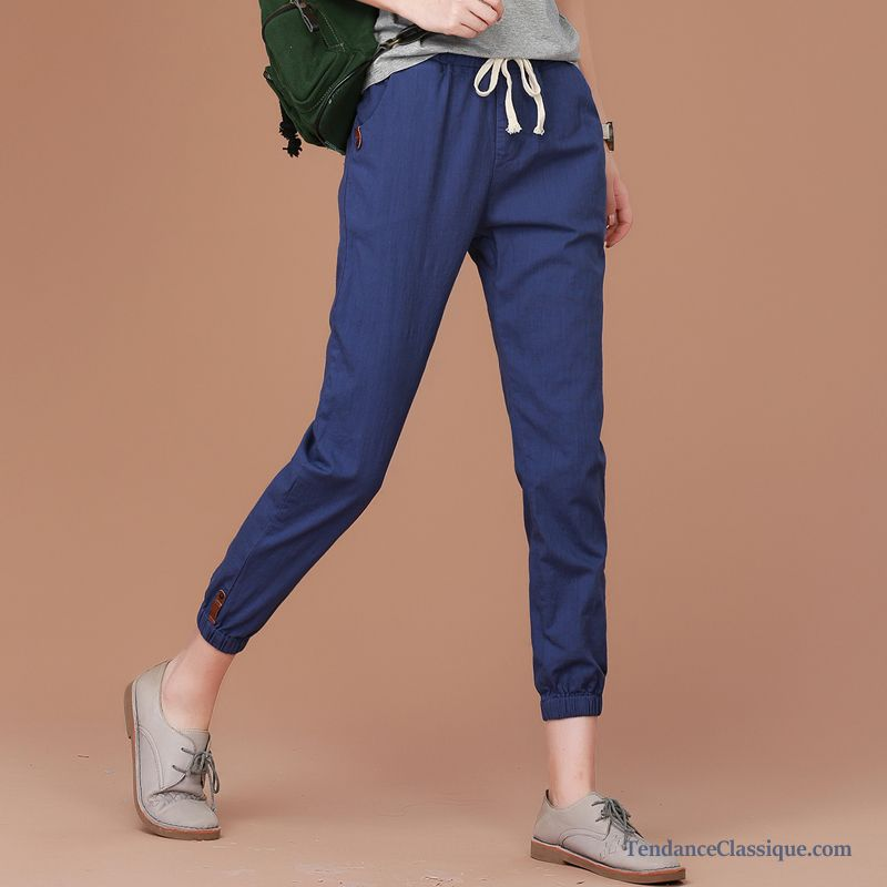 Femme En Slim SaphirMode Pantalon Lin Blanc OPn0k8w