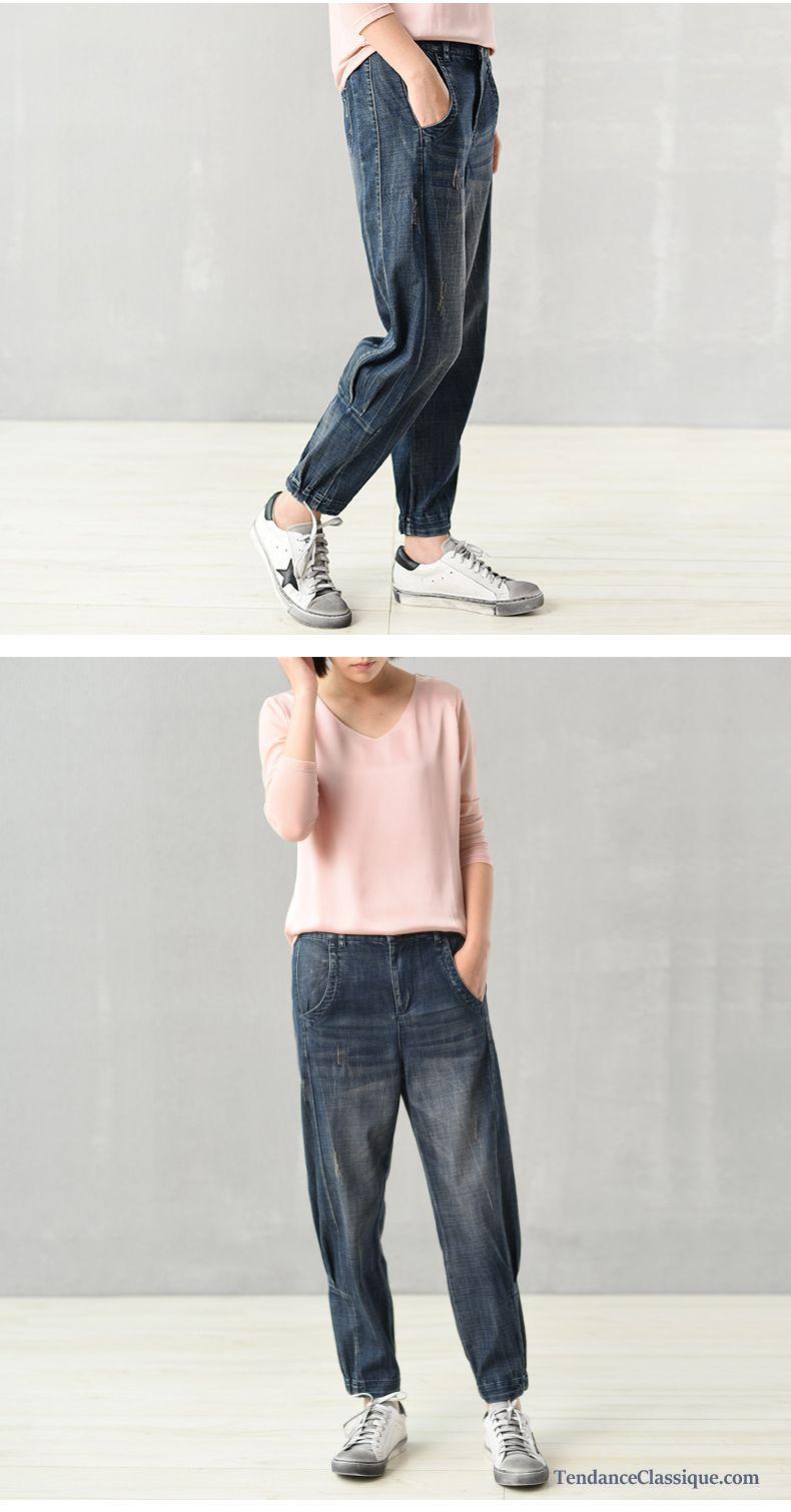 Pantalon Basse Enduit Taille FemmeJeans Fashion Femme vNwnm08
