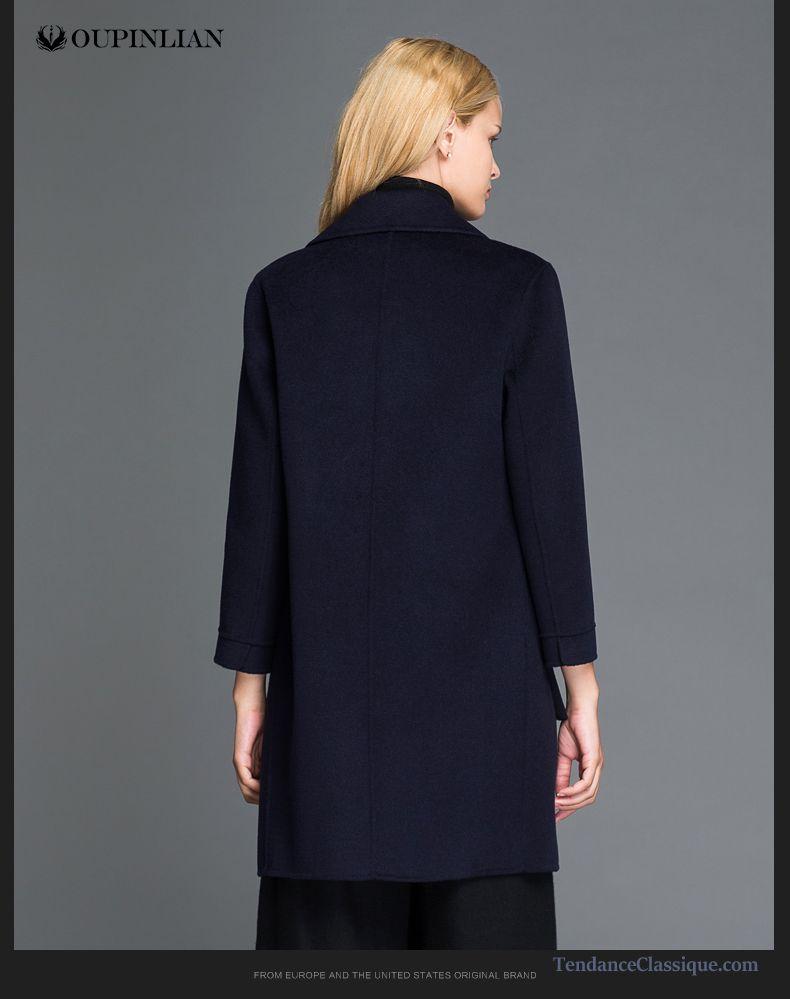 Veste Longue Femme Printemps Beige, Manteau Noir Classe Femme