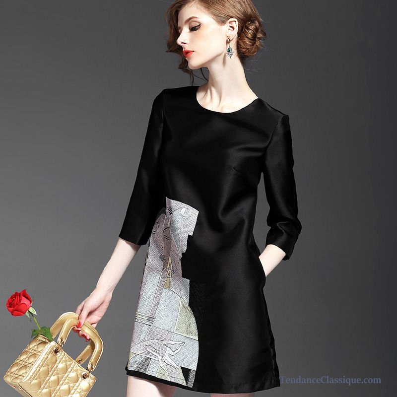 tenue noir et blanc femme