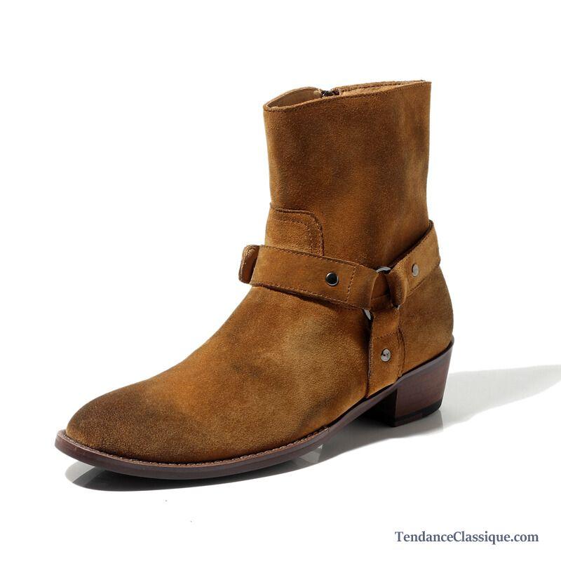 e7d6c3748bd Boots Cuir Homme Soldes
