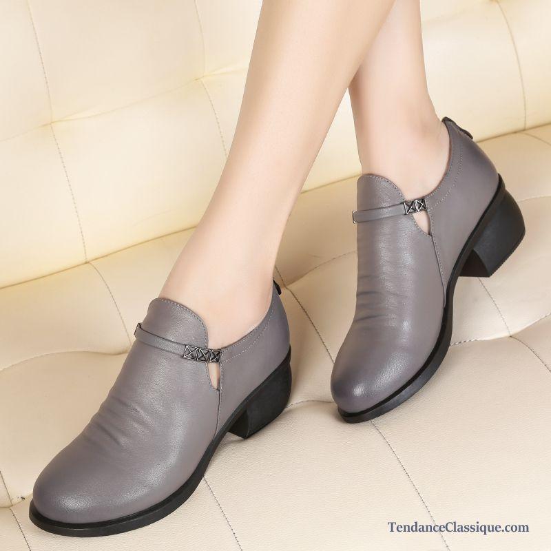 b47e7d5eb Derbies et Chaussures en Cuir Femme Pas Cher | Tendance Classique ...