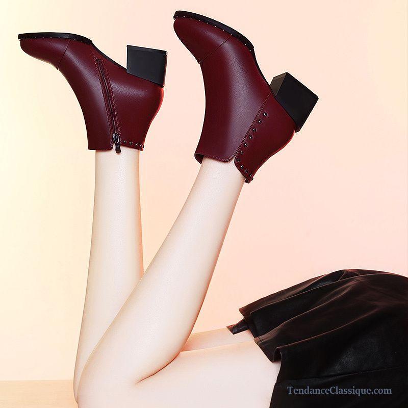bottes talon cuir femme pas cher tendance classique page 5. Black Bedroom Furniture Sets. Home Design Ideas