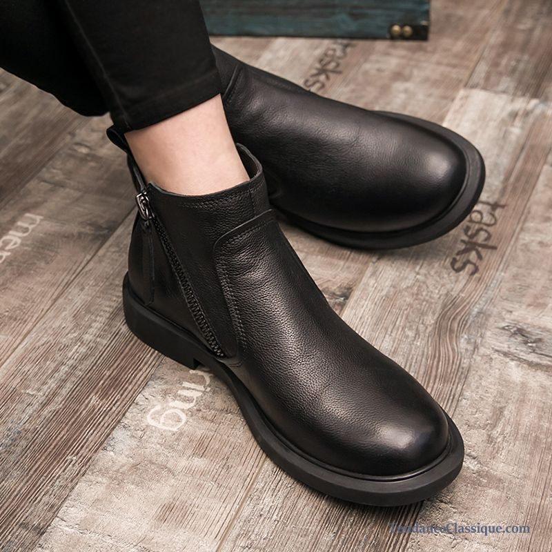 Bottes Hiver Homme, Chaussures Boots Hommes Soldes