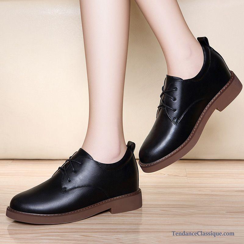 bottine a talon noir chaussures simili cuir femme. Black Bedroom Furniture Sets. Home Design Ideas