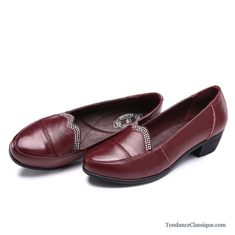Classique Derbies Tendance Pas Femme Cuir En Chaussures Et Cher qRa8qUS