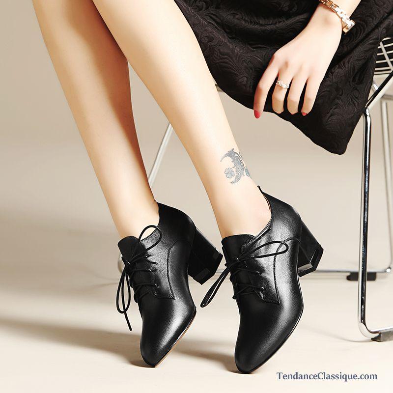 29b326915 Chaussures Cuir Femme Marron, Bottines Italiennes Femme Cuir