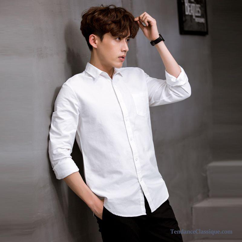 Camisa hombre línea de blancohombre en lino ajustado vNw8nm0