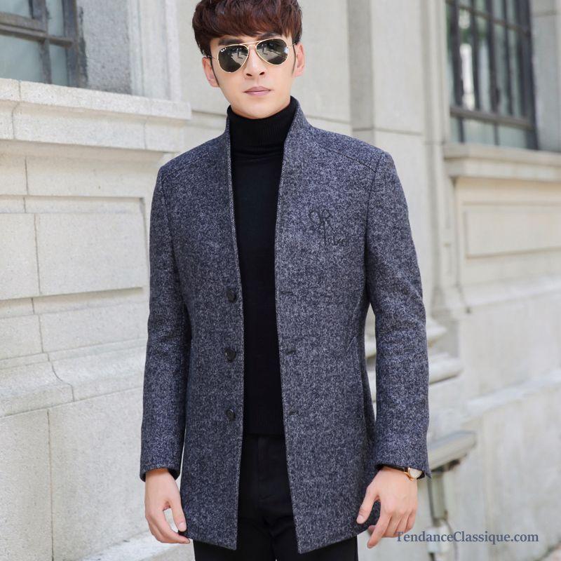 Manteau homme laine hiver