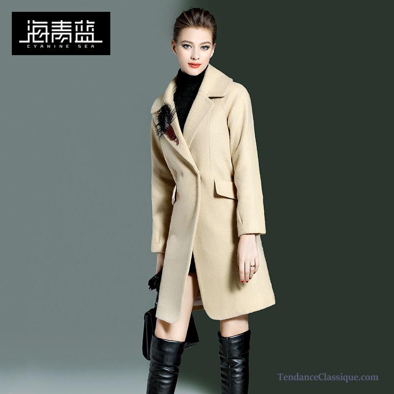 Manteau femme droit classique