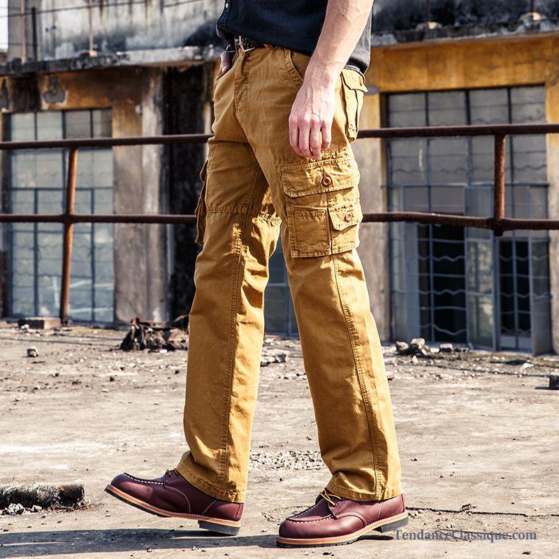 best selling the cheapest super quality Pantalon Homme Lin Noir, Treillis Slim Homme Pantalon Soldes