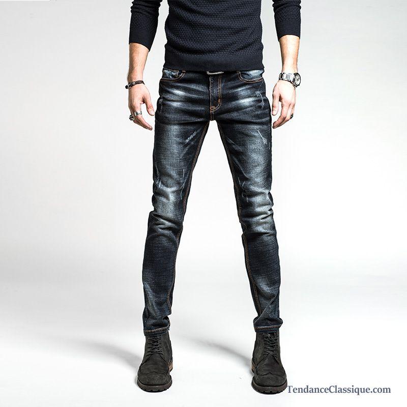 a86efc764a60 Pantalon Homme Noir Slim, Jean Noir Homme Soldes