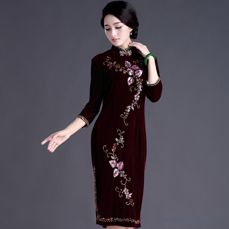 Robe Femme Classe Noir Robe Blanche Fluide