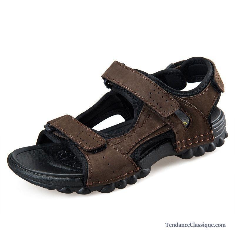 sandales homme pas cher cuir bronzage chaussure homme sandales soldes. Black Bedroom Furniture Sets. Home Design Ideas