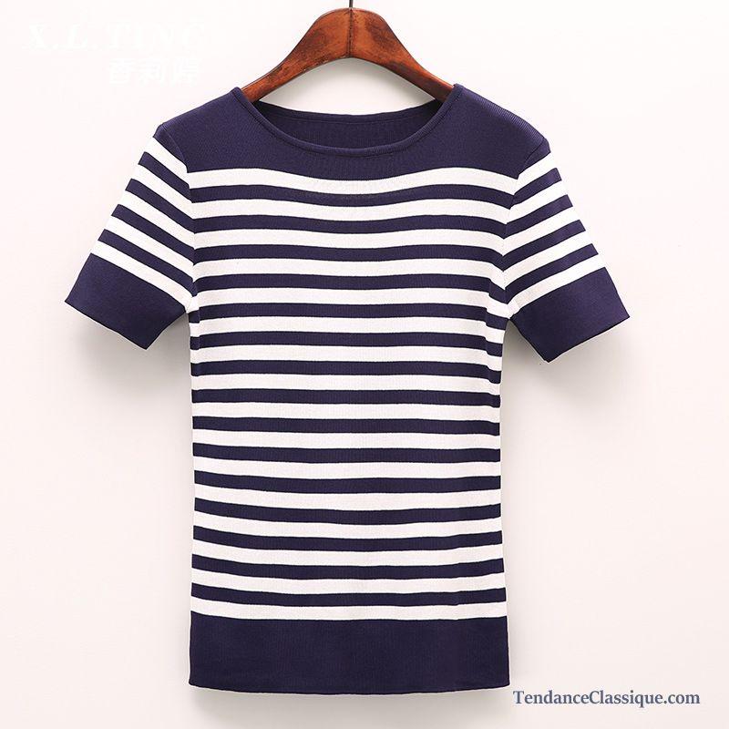 Long Pas Ligne FemmeDébardeur Femme Tee Coton En Shirt Cher f6y7Ybg