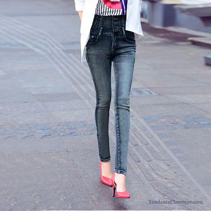 Slim BleuJean Femme Haute Des Jeans Troué Trouver Taille zpSGqUVM