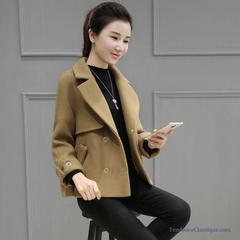 Veste en jean avec manche en cuir femme
